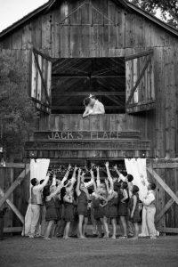 bridesmaids barn adn groommen