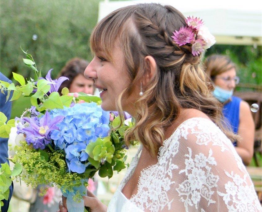 sposa bouquet colorato