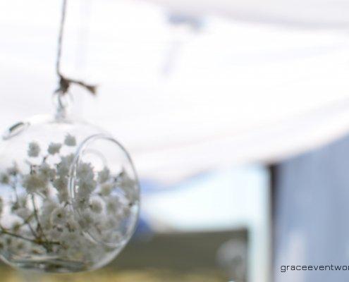 gypsophila lampadina vetro gazebo
