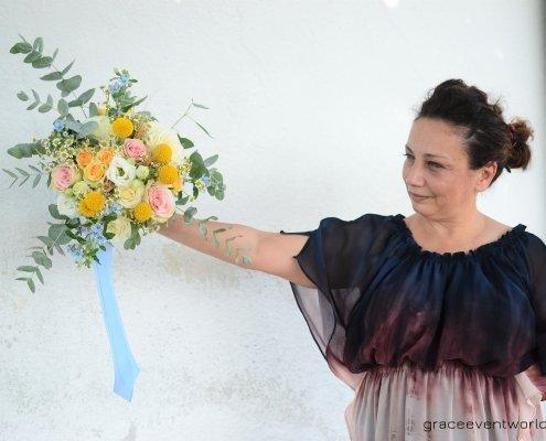 grace bouquet sposa fiori campo